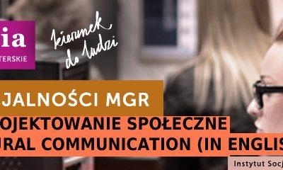 Nowa specjalność na studiach magisterskich na kierunku socjologia na Uniwersytecie Opolskim – design i projektowanie społeczne